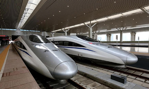 Chinese high-speed trains ventu