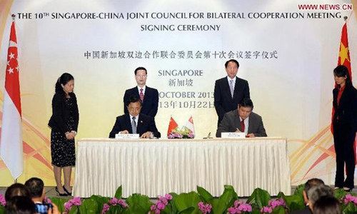 China, Singapore reach consensu