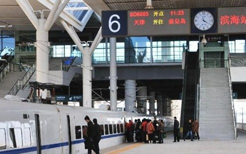 High-speed train linking Tianjin and Qinhuangdao on trial